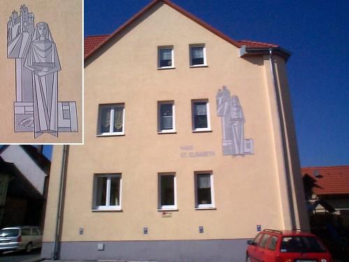 Aussenputz Sgraffito Schwesternhaus in Obernau